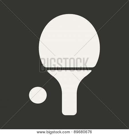 Flat in black and white mobile application ping pong