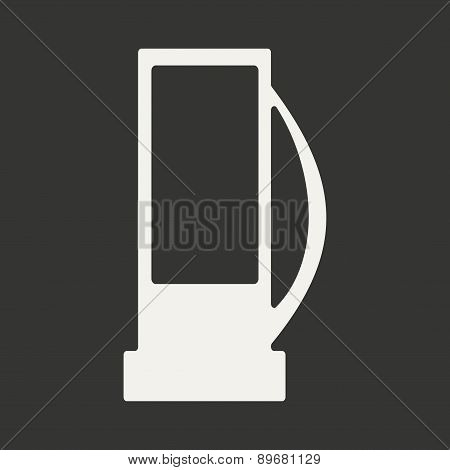 Flat in black and white mobile application gas station