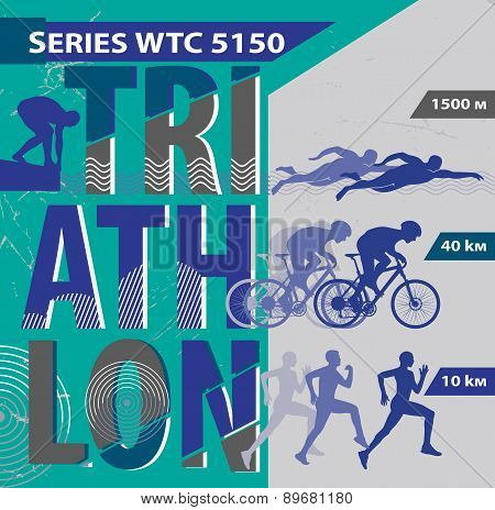 Vector illustration triathlon.