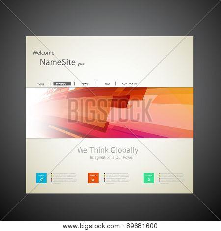 Website Template Vector Design, easy editable