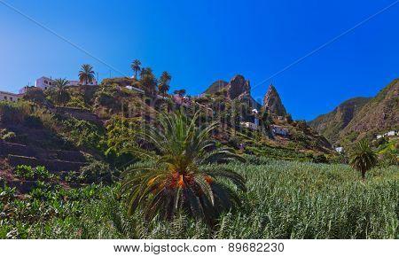 Hermigua valley in La Gomera island - Canary Spain