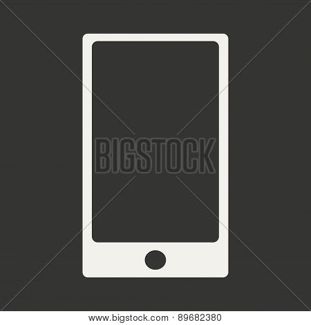 Flat in black and white mobile application mobile phone