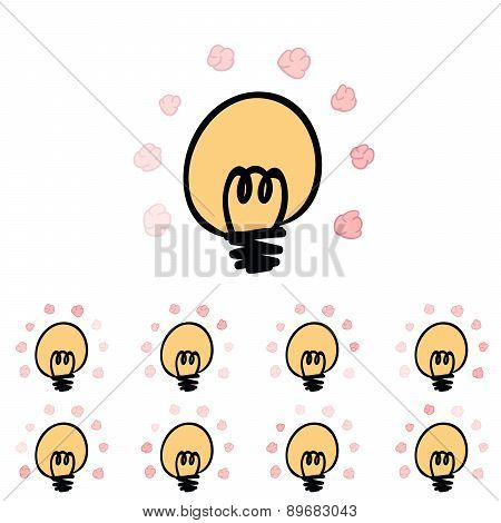 Brain Loading Icon Vector Illustration,