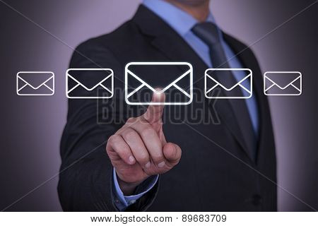 Business Envelope E-Mail Touching