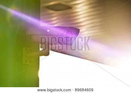 Industrial Cctv Security Camera With Sun Flare