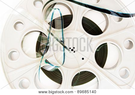 35 Mm Cinema Movie Reel With Film Detail