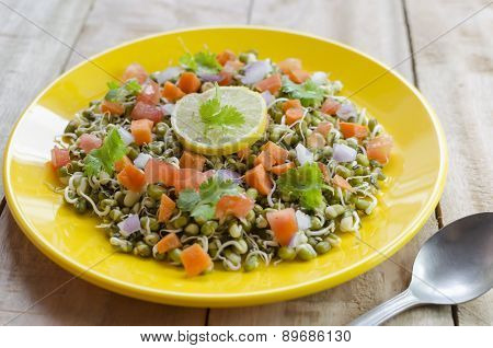 Healthy sprout salad