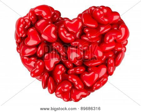 Abstract 3D Heart. Love Concept.