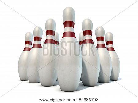 Ten Pin Bowling Pins