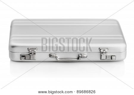 Aluminum Case Small Isolated On A White Background