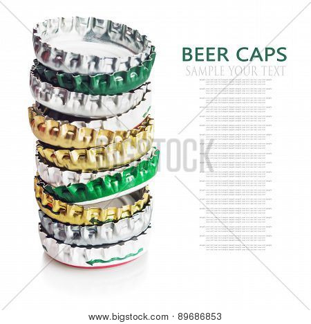 Beer Cap Isolated On White Background