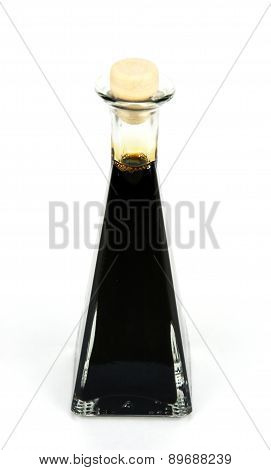 Traditional Italian Balsamic Vinegar Isolated On White Background