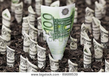 Euro above dollars