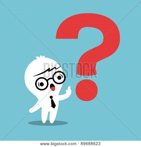 Man With Question Mark