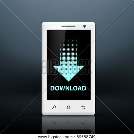 Download Icon On The Screen Of Your Smartphone