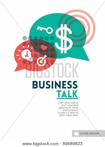 Business Talk Bubble Speech Concept Background Design Layout For Poster Cover Brochure