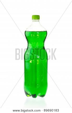 Fizzy Drink In A Plastic Bottle Isolated On White