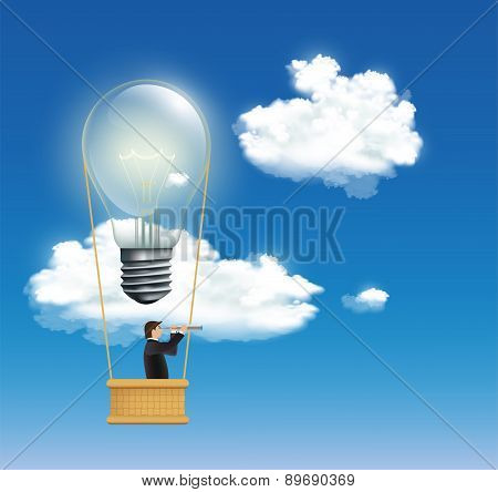 Man In A Hot Air Balloon