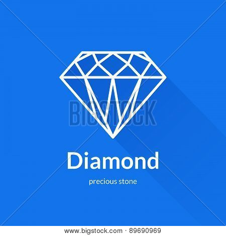 Faceted Diamond Shape Logo Element