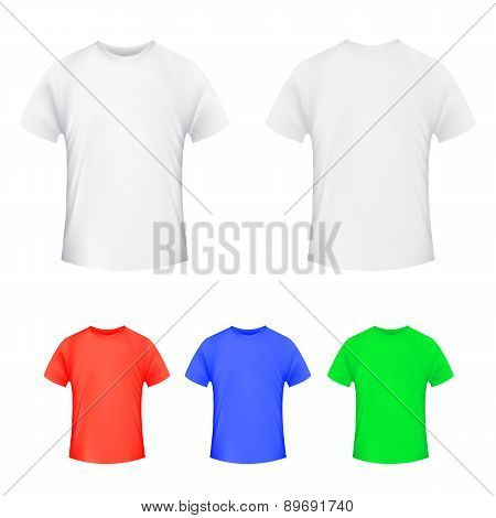Blank T-shirt Template.