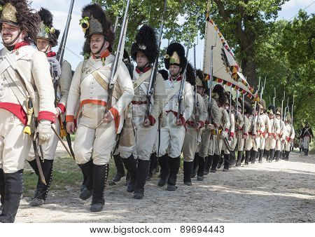 historical re-enactment, bicentennial Battle of Tolentino, Neapolitan army and Austrian