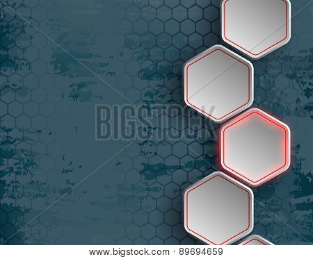 Background Consists Of A Honeycomb