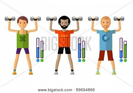gym vector logo design template. sport, athletics or fitness icon.