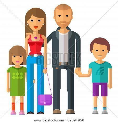 family vector logo design template. parents or children icon.
