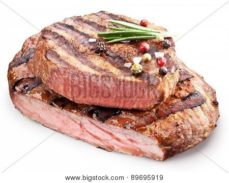 Beef steak with spices. File contains clipping paths.