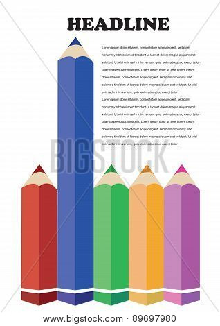 Color Pencil Design Vector Background