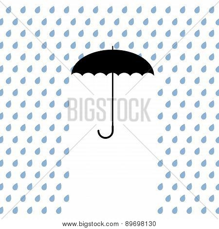 Black Umbrella Protects From Rain