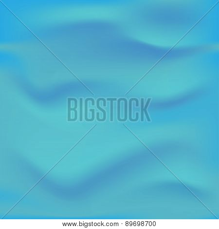 Wrinkled blue fabric. Vector illustration