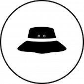 stock photo of grommets  - bucket hat symbol - JPG