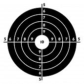 foto of shooting-range  - The target for shooting practice at a shooting range with a pistol - JPG