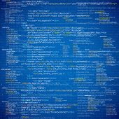 image of byte  - Web developer HTML code with CSS on screen - JPG