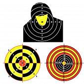 picture of crossed pistols  - Set targets for practical pistol shooting - JPG