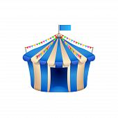 pic of marquee  - illustration of blue marquee isolated on white - JPG
