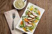 stock photo of southwest  - Southwest salad with sliced spiced - JPG