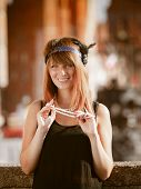 picture of headband  - Flapper girl portrait - JPG