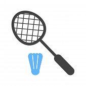 stock photo of shuttlecock  - Racket - JPG