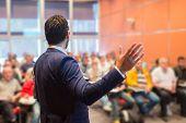 foto of speaker  - Speaker at Business Conference with Public Presentations - JPG