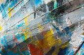 picture of old boat  - Colours of an old wooden fishing boat - JPG
