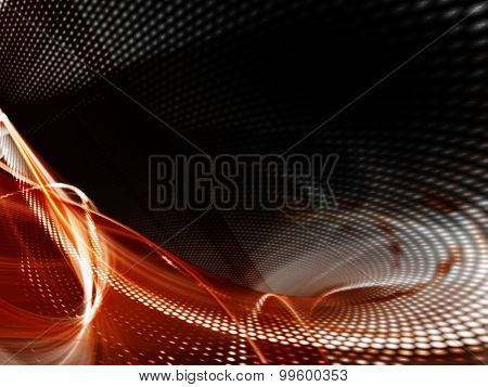 Abstract red background design. Detailed computer graphics.