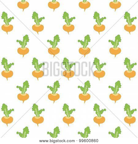 Little turnips vector pattern