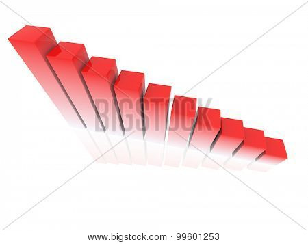 chart success of red and white cubes on a white background. 3d