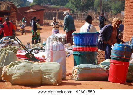 The Monthly Market In The Village Of Pomerini In Tanzania, Africa 515