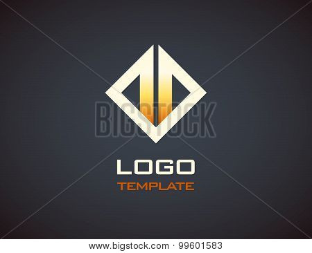 Fire  Logo Template. Fashion Jewelry Luxury Concept Abstract
