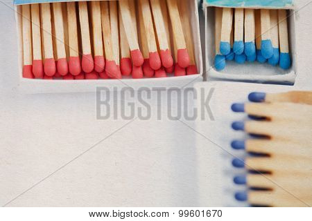 Open Matchstick Boxes.