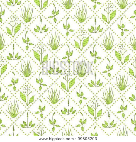 Seamless Pattern With Grass