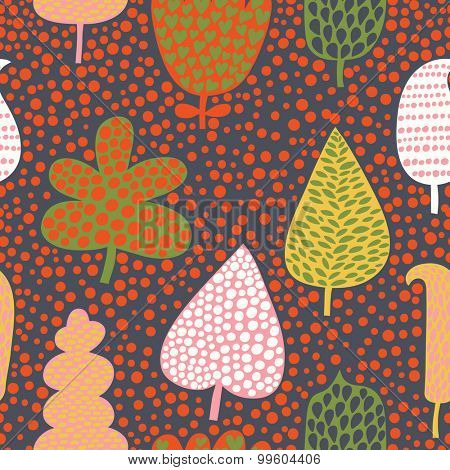 Seamless pattern with bright leafs, abstract leaf texture, endless background. Seamless pattern can be used for wallpaper, pattern fills, web page background, surface textures